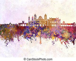 Cadiz skyline in watercolor