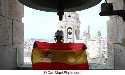 Cadiz town Spain flag