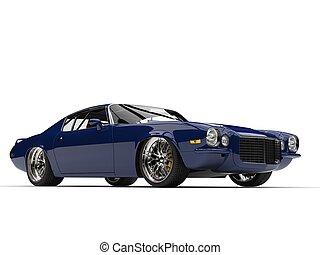 Cadmium blue vintage American car