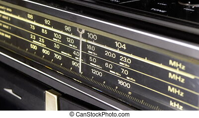 cadran, échelle, accord, vendange, fréquence, radio,...