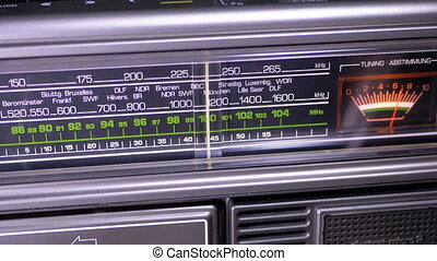 cadran, échelle, accord, vendange, fréquence, radio, ...