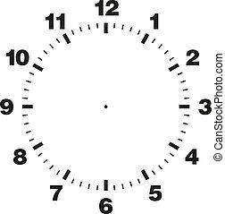 cadran, gabarit, horloge