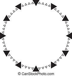 cadran, triangle, transparence, horloge, élément, points, ...