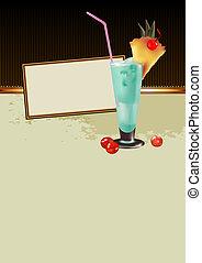 cadre, à, cocktail