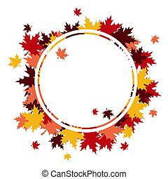 cadre, à, feuilles, fond