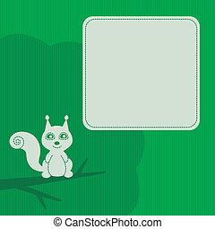 cadre, écureuil