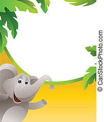 cadre, éléphant