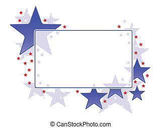 cadre, étoile