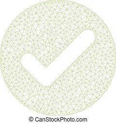 cadre, accepter, polygonal, vecteur, illustration, maille
