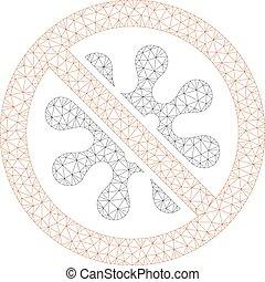 cadre, antivirus, polygonal, vecteur, illustration, maille