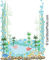 cadre, aquarium