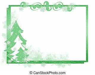 cadre, arbre, noël