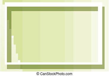 cadre, arrière-plan vert