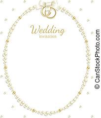cadre, bijou, mariage