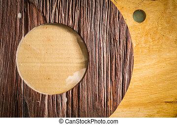 cadre bois, fait, vieux