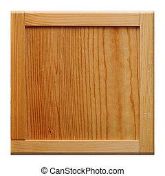 cadre, bois, fond blanc