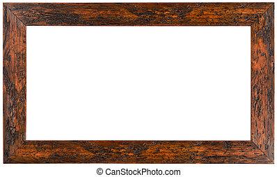 cadre bois image, coupure