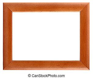 cadre bois image, isolé