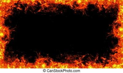 cadre, brûler