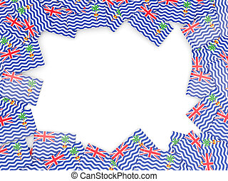 cadre, britannique,  océan, drapeau, Indien, territoire