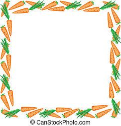 cadre, carottes