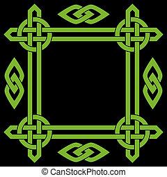 cadre, celtique, frontière