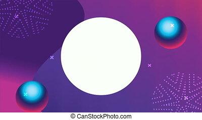 cadre, circulaire, fluide, vif, fond couleur