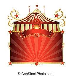 cadre, cirque, rouges