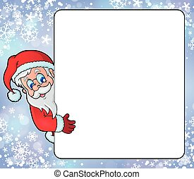 cadre, claus, thème, santa
