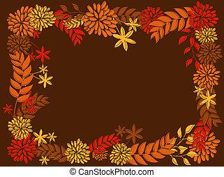 cadre, conception, thanksgiving