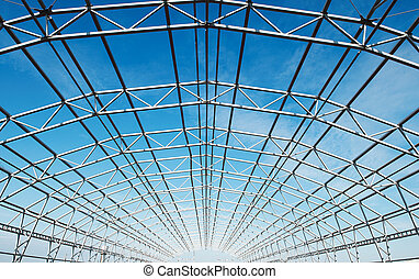 cadre, construction, métal