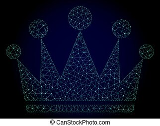 cadre, couronne, illustration, polygonal, vecteur, maille