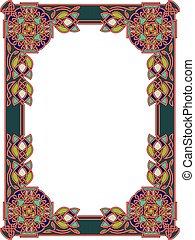 cadre, dans, style celte, a, vecteur