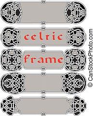 cadre, dans, style celte