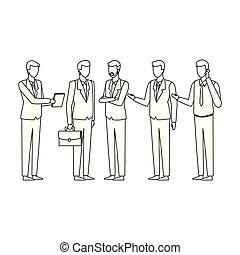cadre, dessin animé, business