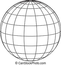 cadre, fil, globe