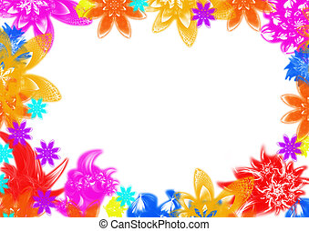 cadre fond fleur fleuriste, jardinerie