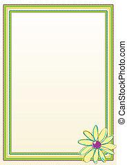 cadre, fleur, frontière