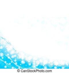 cadre, flocon de neige