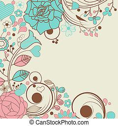 cadre, floral