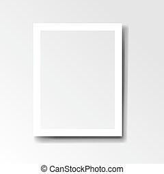 cadre, fond blanc, isolé