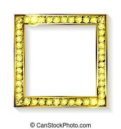cadre, fond blanc, or, cinéma