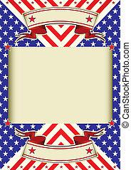 cadre, fond, drapeau américain