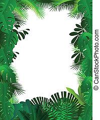cadre, forêt, fond