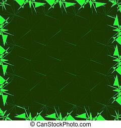 cadre, gabarit, dans, vert, couleur