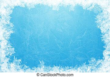 cadre, glace, scintillement