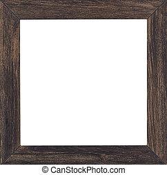 cadre graphique, bois, plaqué, fond, vendange, blanc