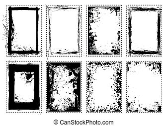 cadre graphique, grunge, splat