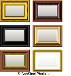 cadre graphique, photo, miroir