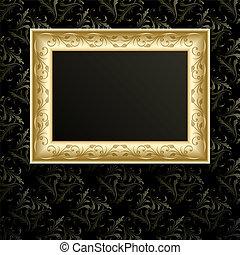 cadre graphique, vecteur, wall.
